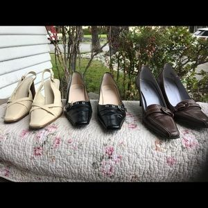 Lot of 3- ANNE KLEIN shoes. Size 9